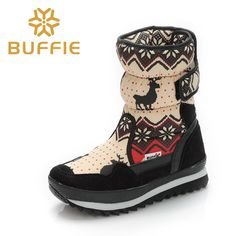 (56.16$)  Watch here - http://aiyip.worlditems.win/all/product.php?id=32786009639 - Winter Women Snow Boots Mid-calf Short Plush Waterproof Women Boots Casual Women Shoes 30% Natural Wool Winter Boots 90604