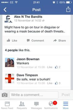 Brilliant plan, Dave. Nobody ever wants to attack people in burkhas... #EDL