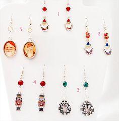 1071 - Christmas earrings, Christmas jewelry, Christmas assortment, Christmas, charm earring, charm jewelry, Christmas charm, Santa, soldier by EarringsBraceletsEtc on Etsy