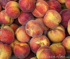 Peach , fresh fruit in a marke
