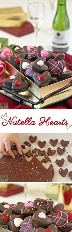 How to Make Nutella Candy Hearts for Valentine's Day | From OhNuts.com