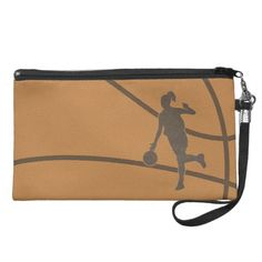 Basketball Wristlet Cosmetic Bag $52.95.  #bagette #bag #bolso #wristlet #clutch #purse #handbag #travel_bag #travel #cosmetic #phone #makeup #basketball