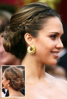 Fourth and final hair idea, another updo that I like.
