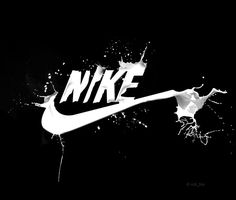 Nike Logo. black shows power. in this logo it shows the power. it attracts and draws us in because the black is so powerful and compelling