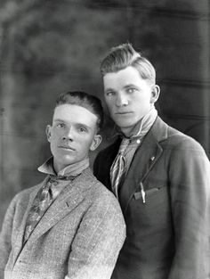 Vintage male couple before Stonewall, way before Stonewall, Gay Pride and Marriage Equality. Gay folks have been out there the whole time.