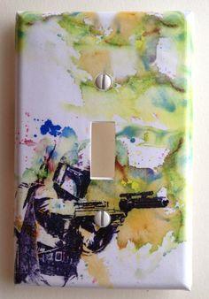 Boba Fett Star Wars Art Room Decor Decorative Light Switch Plate Cover by idillard