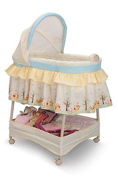 Majesty Infant Baby Cradle Bassinet with Canopy /& White Bedding NEW   900