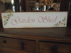 "HP Shabby Roses ""GARDEN SHED"" Cottage Chic Primitive Wood Sign"