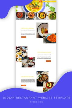 WebDo comes with all the designer tools you need in order to create responsive, pixel-perfect websites with no coding knowledge required. Use the indian restaurant website template to create your website today.
