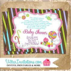 15 best kyndal baby shower images on pinterest baby shower candyland baby shower printable or prints colors can be custom change to match your candy land party decor filmwisefo