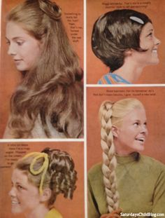 hair styles from the 1970s! 1970s Hairstyles, Short Hairstyles For Women, Vintage Hairstyles, Cute Hairstyles, Pelo Vintage, Retro Updo, Vintage Beauty, Vintage Glamour, Hair Dos