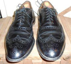 Allen Edmonds Mens Wingtips Mens Shoes Black Shoes Allen Edmonds 13 D by ZasuVintage on Etsy