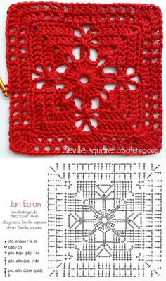 Best 12 How to Crochet a Solid Granny Square – Crochet Ideas – Page 129337820533840622 – SkillOfKing. Crochet Coaster Pattern, Crochet Motifs, Granny Square Crochet Pattern, Crochet Diagram, Crochet Chart, Crochet Squares, Crochet Blanket Patterns, Crochet Stitches, Knitting Patterns