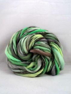 78 Yards Thick and Thin Handspun Merino 3 oz by MommaRobsCreations, $21.00