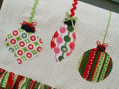 christmas towels... appliqued