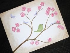 Cherry Blossoms 16x20 Acrylic on canvas MADE by ElizabethLaurenArt, $95.00