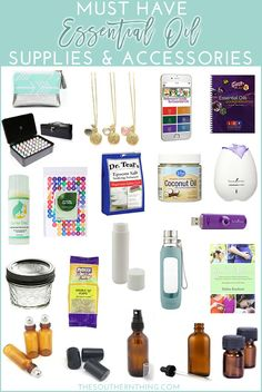 Top 20 must have essential oil supplies and accessories for essential oil users.