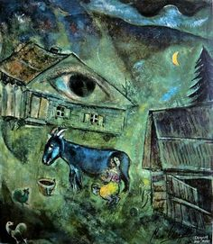 Mark Chagall - The House with the Green Eye