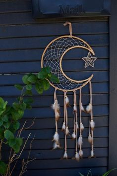 Rattan Crescent Moon Wall Hanging - Rattan Crescent Moon Dreamcatcher – Earthbound Trading Co. – Earthbound Trading Co. The Effecti - Doily Dream Catchers, Dream Catcher Decor, Dream Catcher Nursery, Black Dream Catcher, Dream Catcher Mobile, Large Dream Catcher, Feather Dream Catcher, Dream Catcher Boho, Making Dream Catchers