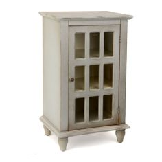 Antiqued Blue Gray Window Pane Side Table | Kirklands