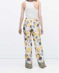 Anchosprimavera Pantalonespantalones Verano 2015estampado Mujer Zara Zara wAqCpgc