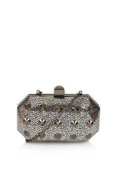 Stingray and Stud Box Bag - Debutante My Spring, Spring Style, Topshop Bags, Custom Made Prom Dress, W Dresses, Prom Queens, Box Bag, Rocker Chic, Girls Best Friend