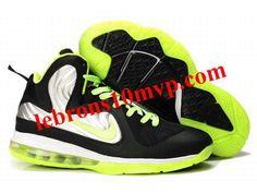 online retailer 36b7b 2da20 Nike Basketball Lebron 9 Shoes ID Foamposite Black Metallic Silver Lime  Green.