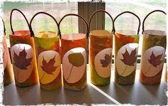 River Bliss: Savoring Light: Leaf Lantern Tutorials Yes. Harvest Crafts, Autumn Crafts, Fall Crafts For Kids, Pumpkin Crafts, Autumn Art, Nature Crafts, Autumn Theme, Diy For Kids, Holiday Crafts