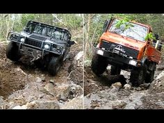 UNIMOG vs HUMMER Extreme OFFROAD testing the same STEEPY, MUDDY with BIG...