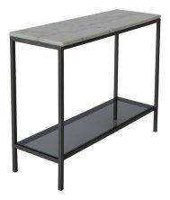 Konsolbord-marmor-grå-lackad-Glas-hylla-ASCOT