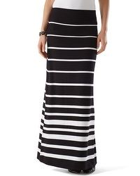 Striped Maxi Skirt-cute with white t-shirt and jean jacket for travel