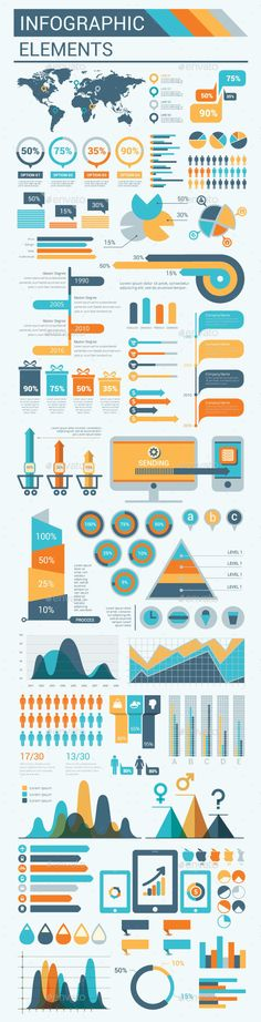 Infographic Simply Elements Template Vector EPS, AI. Download here: http://graphicriver.net/item/infographic-simply-elements/15319691?ref=ksioks