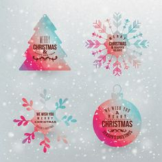 4 Colorful Christmas Vector Elements Set - http://www.welovesolo.com/4-colorful-christmas-vector-elements-set/