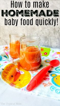 Instant Pot Baby Food - The Typical Mom * Instant Pot Recipes * Ninja Foodi Recipes - Instant Pot Baby Food How to make homemade baby food yourself. Instant Pot baby food is easier than you think and you'll know exactly what you're feeding your baby. Baby Carrot Recipes, Baby Puree Recipes, Baby Food Recipes, Food Baby, Homemade Baby Puffs, Homemade Baby Snacks, Instant Pot Baby Food, Best Instant Pot Recipe, Cooked Baby Carrots