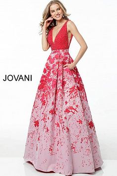 9cc92113313f8e jovani 49372  Jovani  EveningDress  FormalGown  BlackTie  FormalEvent   2018collection Pink Evening