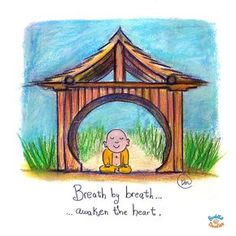 Today's Doodle: free yourself! Breath by breath...awaken the heart.