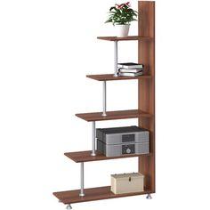 Стеллаж СТ-5, слива валлис, 29,6х80х173 см от производителя Наша мебель