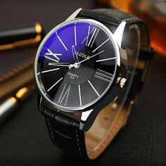 Quartz Watches Fashion Men Date Case Alloy Synthetic Leather Analog Quartz Sport Watch Men Watches Top Luxury Brand Masculino Reloj Relieving Rheumatism