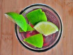 (Sweeten with 5 drops stevia or 2 tsp xylitol instead of honey) Cherry, Sage, and Lime Water - Tart cherries plus sour limes equal water that's anything but boring. The lime juice gives you a nice boost of vitamin C.