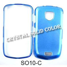 Unlimited Cellular Hard Snap On Cover Faceplate for Samsung I510 Droid/Charge Inspiration (Crystal Solid Blue)