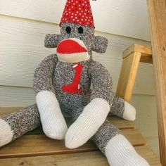 First Birthday Sock Monkey
