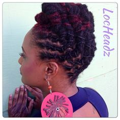 Loc Styles for Women | Lovely styles by Loc Headz…. | Black Women Natural Hairstyles