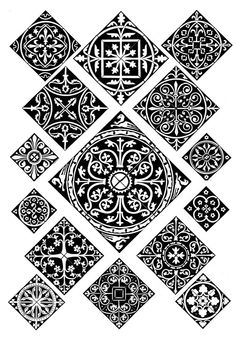 West European Gothic Tiles And Patterns