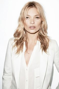 Kate Moss in white