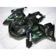 Kawasaki NINJA ZX14R 2006-2009 Injection ABS Fairing - Monster - Black | $839.00