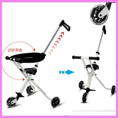 Three Wheels Portable Lightweight Baby Stroller Light Travel Trike Tricycle Stroller Handbar Pushchair Child Walker Pram Buggy #Affiliate