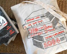 Gifts for book lovers - Haruki Murakami Embroidered Tote Bag