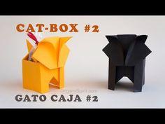 Origami Cat-Box #2 :: Gato Caja - YouTube