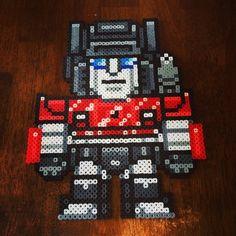 Sideswipe Transformers perler beads by lovechowder242