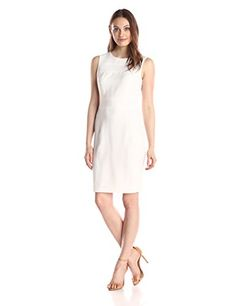 Tommy Hilfiger Womens Crepe Dress Ivory 12 -- Read more  at the image link.